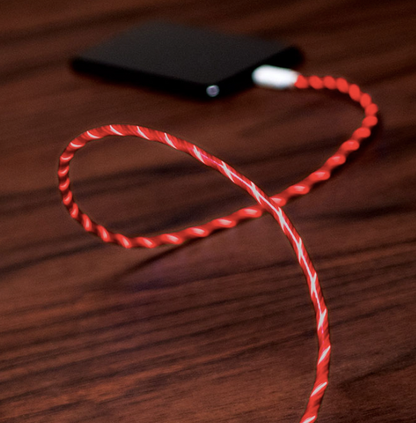 The PAC light cable for Iphone - Red