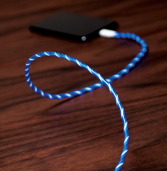 The PAC light cable for Iphone - Blue