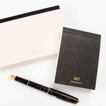 365 notebook A7 - Fountain pen - Black