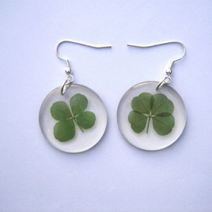 Firkløver øreringe / four-leaf clover earrings