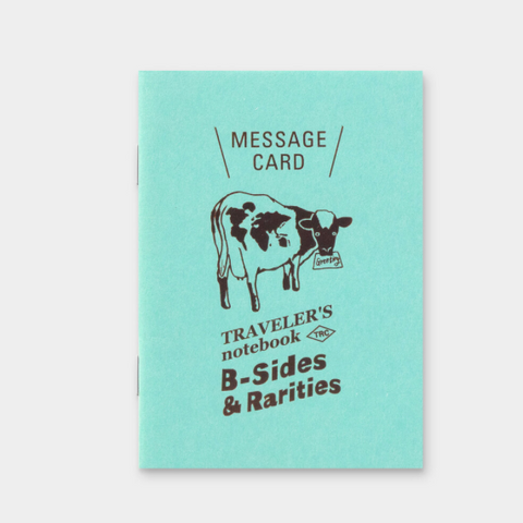 Traveler's Notebook B-Sides & Rarities Refill Passport Size Message Card