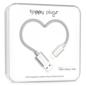 Happy Plugs Charge/Sync Cable - Silver