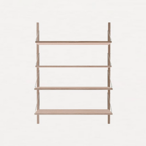 FRAMA SHELF Library H115 Single Section White Oak