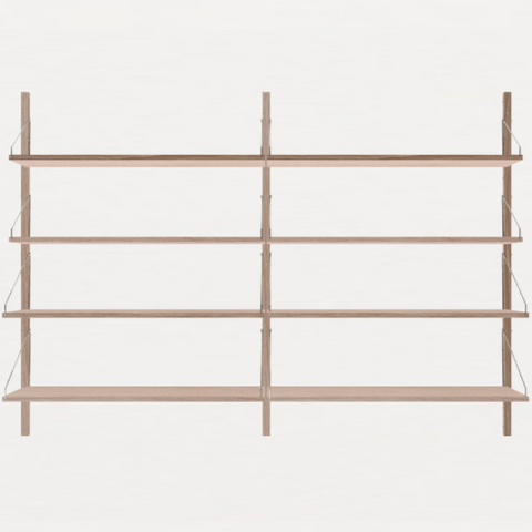 FRAMA SHELF Library H115 Double Section White Oak