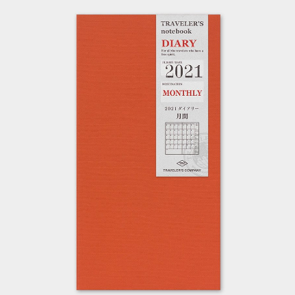 Traveler's Company Traveler's Notebook 2021 Monthly Diary