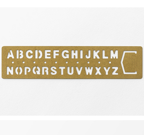 Midori Japan Brass Bookmark Template Alphabet