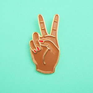 Coucou Suzette - Peace Pin - Black