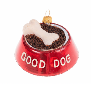 Hundeskål julepynt / Good Dog Bowl christmas ornament