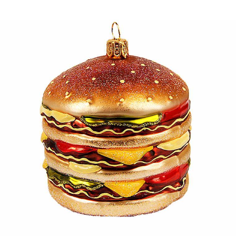 Stor Burger julepynt / Big Burger christmas ornament - Pre-order now!