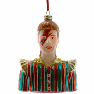 David Bowie Christmas Ornament