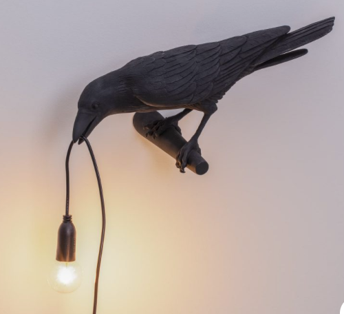 Seletti Bird Lamp Black - Wall Lamp