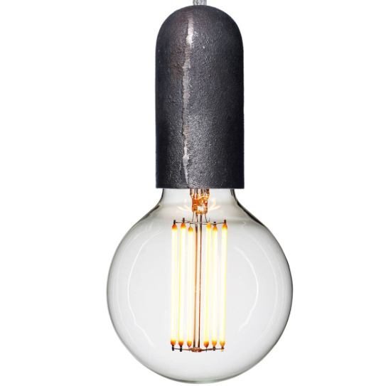 NUD Base Iron - light bulb socket with wire / Jernfatning med ledning