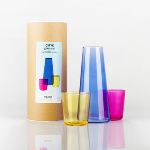 CMYK Carafe and Glasses