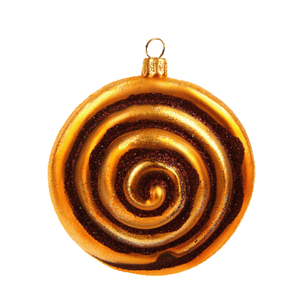 Kanelsnegl julepynt / Cinnamon Roll christmas ornament
