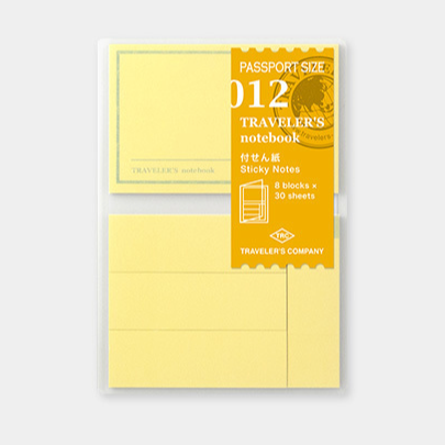 Traveler's Company Traveler's Notebook Refill 012 Sticky Notes Passport Size