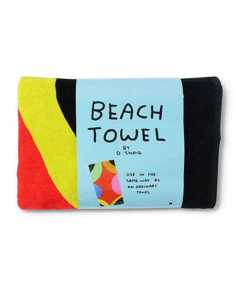 David Shrigley Beach Towel