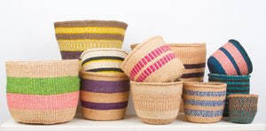 Colourful African Sisal Baskets - only available in store!