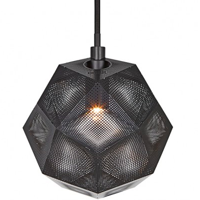 Tom Dixon Etch Mini Pendant Black / Sort