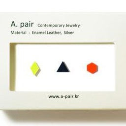 A. pair Earrings - Yellow/Black/Orange