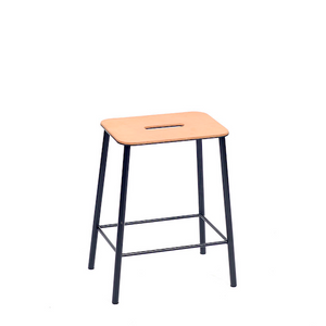 Frama Adam Leather skammel-barstol / stool-barstool