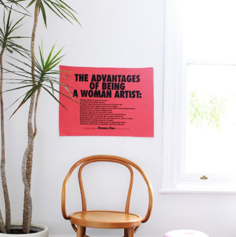 Guerrilla Girls - The Advantages Of being A Female Artist Dish Towel