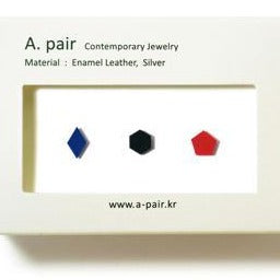 A. pair Earrings - Blue/Black/Red