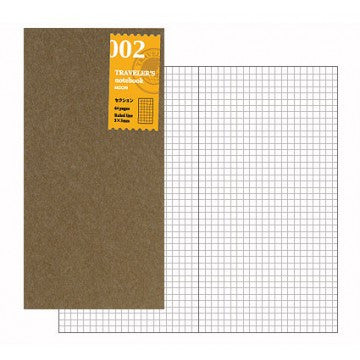 Traveler's Company Traveler's Notebook Refill 002 checked/grid