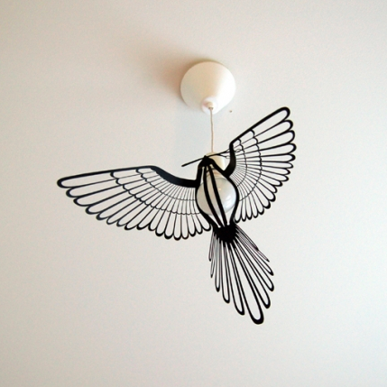 Bird Light - giv din pære vinger / Bird Light - dress your bulb with wings