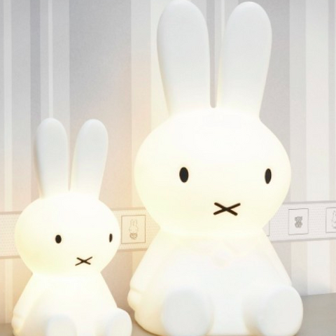 Mr. Maria Miffy kaninlampe / rabbit lamp - NEW: With remote control