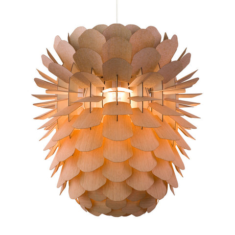 Wooden Cone Lamp Large