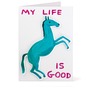 David Shrigley Puffy Sticker Card - My Life Is Good