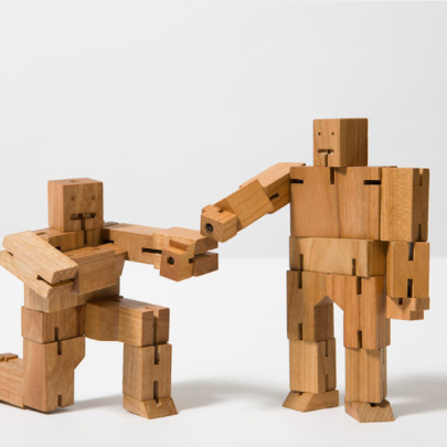 Areaware Cubebot trærobot / wooden robot - pt udsolgt/sold out