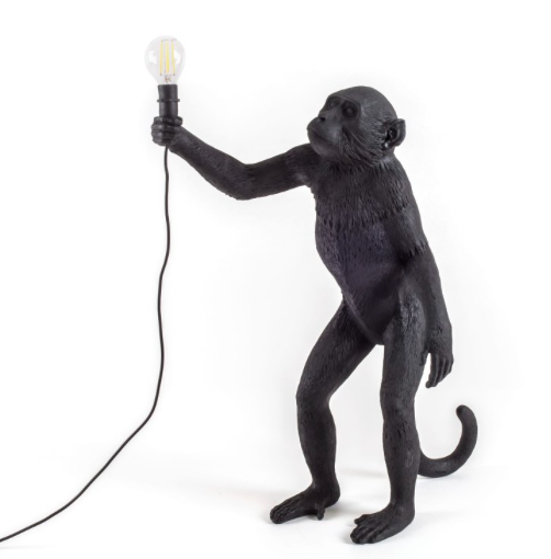 Seletti Monkey Lamp Black Standing