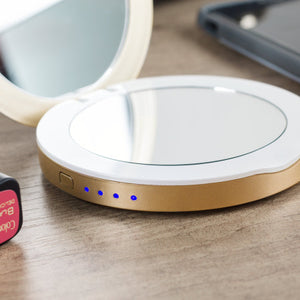 Hyper Pearl Make-Up Mirror and Powerbank - Gold