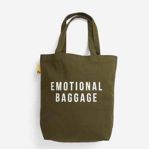 The School of Life - Emotional Baggage Tote Bag - Khaki