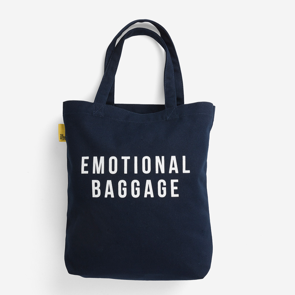 The School of Life - Emotional Baggage Tote Bag - Navy