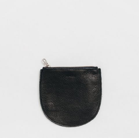 BAGGU U Pouch Small - Black Leather