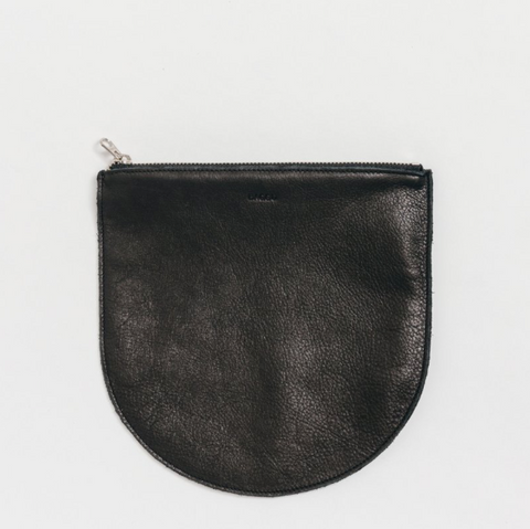 BAGGU U Pouch Large - Black Leather - coming soon!