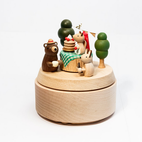 Birthday Picnic Wooden Music Box With Movement!