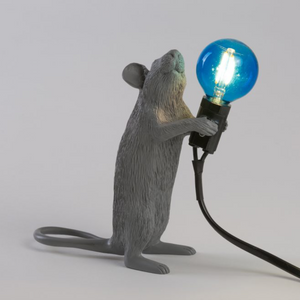 Seletti Mouse Lamp Grey Standing - coming soon!