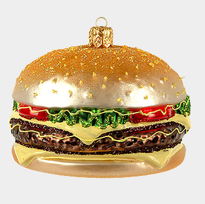 Burger julepynt / Burger christmas ornament - Pre-order now!