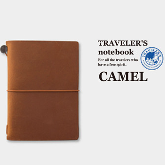 Traveler's Company Traveler's Notebook CAMEL Passport Size - NEW COLOUR!