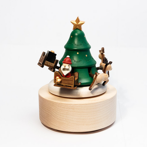 Christmas Wooden Music Box With Movement!