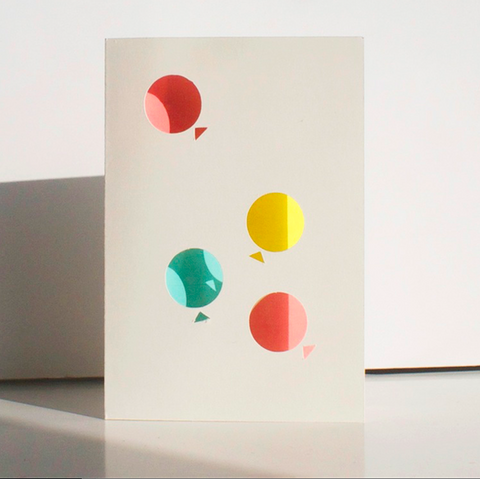 Cut & Make Blow Balloons Card