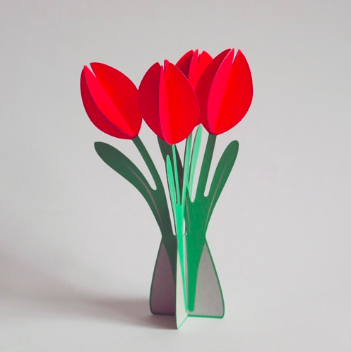 Cut & Make Tulips Card
