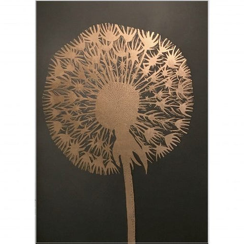 Monika Petersen Lino Print - Dandelion Gold/Granite