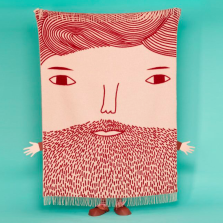 Donna Wilson - Beardy Man Plaid / Throw