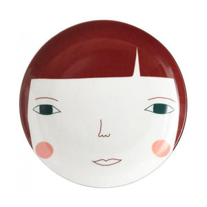Donna Wilson Plate - Dark Haired Woman