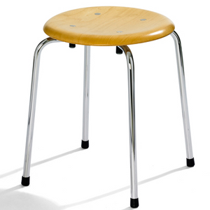 Please Wait To Be Seated: Egon Eiermann S38 S/1 Stool - Beech