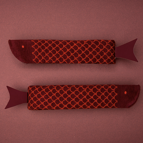 Fish Socks - Burgundy